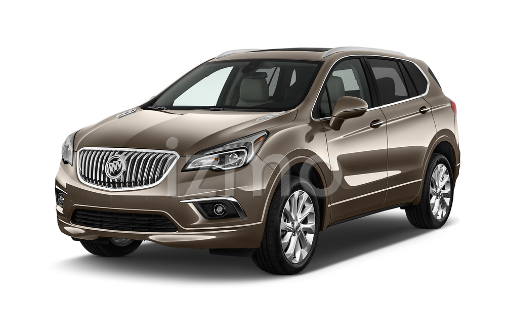 2016 Buick Envision Premium-II-AWD 5 Door SUV Angular Front stock photos of front three quarter view