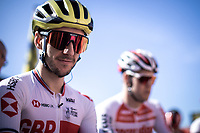 Adam Yates (GBR/Mitchelton Scott) as part of Team Great Britain.<br /> <br /> 104th Kampioenschap van Vlaanderen 2019<br /> One Day Race: Koolskamp > Koolskamp 186km (UCI 1.1)<br /> ©kramon
