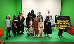 Costume contestants pose for photos during the Star Wars Day celebration at the Carson City Library in Carson City, Nev. on Wednesday, May 4, 2016.<br />
