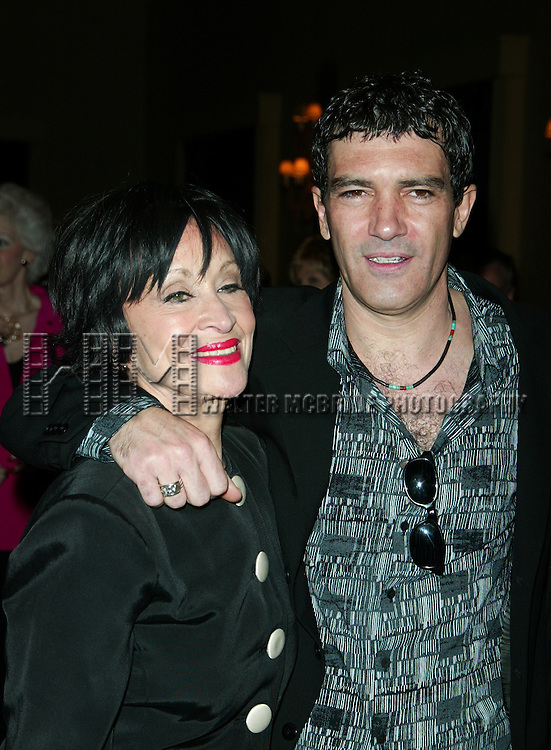 CHITA RIVERA and ANTONIO BANDERAS.Attending the Sixty-Ninth Annual Drama League Awards Luncheon at the Grand Hyatt Hotel in.New York City..May 9, 2003.Credit All Uses.© Walter McBride / , USA