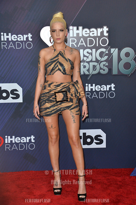 Halsey at the 2018 iHeartRadio Music Awards at The Forum, Los Angeles, USA 11 March 2018<br /> Picture: Paul Smith/Featureflash/SilverHub 0208 004 5359 sales@silverhubmedia.com