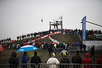 race leader &amp; U23 World Champion Eli Iserbyt (BEL/Telenet-Fidea) leading the race<br /> <br /> Noordzeecross - Middelkerke 2016