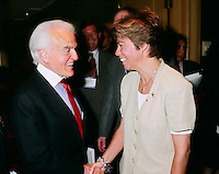 May 31 1999 file photo-<br /> <br /> Jack Valenti, Louise Beaudoin