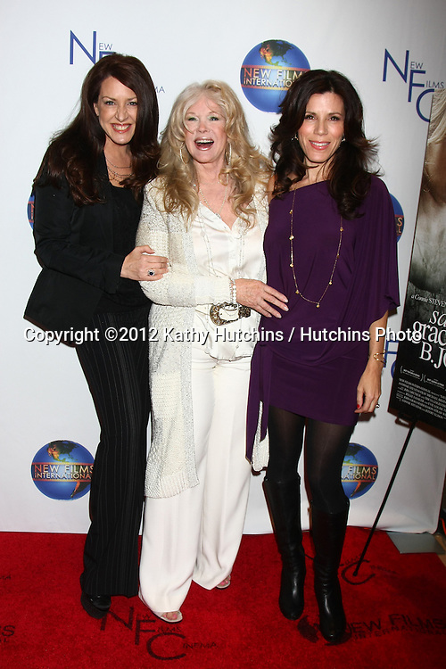 LOS ANGELES - DEC 13:  Joely Fisher, Connie Stevens, Tricia Leigh Fisher arrives to the 'Saving Grace B. Jones' Premiere at ICM Screening Room on December 13, 2012 in Century CIty, CA