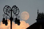 Supermoon over Zagreb