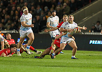 7th February 2020; AJ Bell Stadium, Salford, Lancashire, England; Premiership Cup Rugby, Sale Sharks versus Saracens;  Akker van der Merwe of Sale Sharks, who came on in the second half, and scored a try
