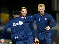 Ipswich Town's Flynn Downes during the pre-match warm-up <br /> <br /> Photographer Hannah Fountain/CameraSport<br /> <br /> The EFL Sky Bet Championship - Ipswich Town v Middlesbrough - Tuesday 2nd October 2018 - Portman Road - Ipswich<br /> <br /> World Copyright &copy; 2018 CameraSport. All rights reserved. 43 Linden Ave. Countesthorpe. Leicester. England. LE8 5PG - Tel: +44 (0) 116 277 4147 - admin@camerasport.com - www.camerasport.com