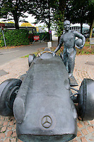 Juan Manuel Fangio statue in the Monza Autodrome during the 72nd Italian Open held in the Royal Park, Monza, Italy. 17-20th September 2015.<br /> Picture Eoin Clarke | Golffile