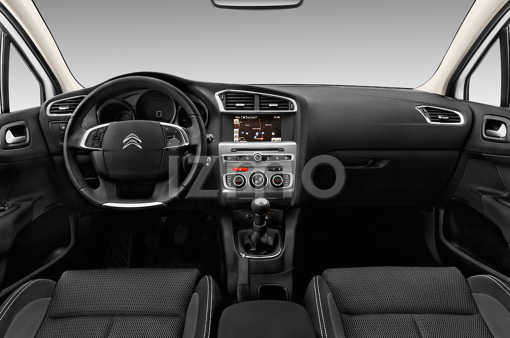 Stock photo of straight dashboard view of 2016 Citroen C4 Feel 5 Door Hatchback Dashboard