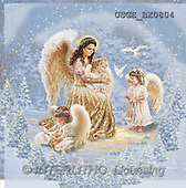 Dona Gelsinger, CHRISTMAS CHILDREN, angels, paintings, 4 angels, rabbit(USGEBX0804,#XK#) Engel, angeles