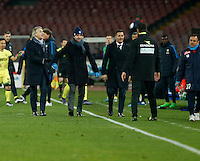 Roberto Mancini  during the Quartef-final of Tim Cup soccer match,between SSC Napoli and vFC Inter    at  the San  Paolo   stadium in Naples  Italy , January 19, 2016
