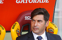Roma's coach Paulo Fonseca waits for the start of the Serie A soccer match between Roma and Cagliari at Rome's Olympic Stadium, October 6, 2019. UPDATE IMAGES PRESS/ Riccardo De Luca