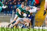 Paul Murphy  Kerry in action against Conor McManus Monaghan during the Allianz Football League Division 1 Round 5 match between Kerry and Monaghan at Fitzgerald Stadium in Killarney, on Sunday.