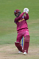 Shai Hope (West Indies) flays a free hit through the off side during West Indies vs New Zealand, ICC World Cup Warm-Up Match Cricket at the Bristol County Ground on 28th May 2019