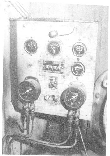 Close up view of gauge panel - cab interior of #50 at Durango.<br /> D&amp;RGW  Durango, CO