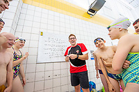 Picture by Allan McKenzie/SWpix.com - 02/10/2018 - Commercial - Swimming - Swimming Times - From the Coach Chris Dove, Catterick Sports & Leisure Centre, Catterick, England - Chris Dove coaching.