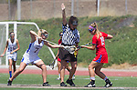 Torrance, CA 05/11/13 - Talia Fiance (Agoura #7) and Grace Schmidt-Beck (Los Alamitos #19) during the 2013 Los Angeles/Orange County Championship game between Los Alamitos and Agoura.  Los Alamitos defeated Agoura 19-4.
