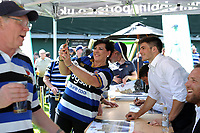 A general view of a player autograph signing prior to the match. Aviva Premiership match, between Bath Rugby and London Irish on May 5, 2018 at the Recreation Ground in Bath, England. Photo by: Patrick Khachfe / Onside Images