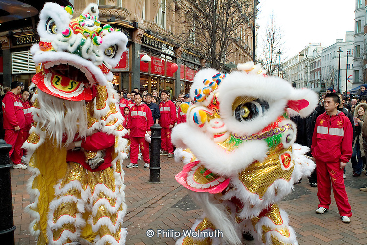 Chinese New Year celebrations, Chinatown, London.