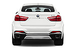 Straight rear view of 2017 BMW X6 M-sportpakket 5 Door SUV Rear View  stock images