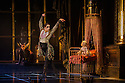 London, UK. 07.12.2012. MATTHEW BOURNE'S SLEEPING BEAUTY: A GOTHIC FAIRYTALE premieres at Sadler's Wells. Liam Mower (Tantrum), Joe Walking (background - Autumnus) in Act I: The Fairies Visit the Baby Aurora. Photo credit: Jane Hobson.