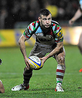 Northampton, England. Danny Care of Harlequins during the Aviva Premiership match between Northampton Saints and Harlequins at Franklin's Gardens on December 22. 2012 in Northampton, England.