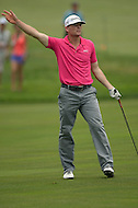 """June 30, 2013  (Bethesda, Maryland)  James Driscoll yells """"four"""" after his second shot on the 8th hole of Round 4 during the AT&T National at Congressional Country Club. (Photo by Don Baxter/Media Images International)"""