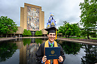 May 19, 2019; Graduates celebrate following the 2019 Commencement. (Photo by Matt Cashore/University of Notre Dame)