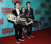 NEW YORK, NY - OCTOBER 01: Thomas Barbusca, Alexa Nisenson and Jacob Hopkins attends the New York Screening of Middle School: The Worst Years of My Life at Regal E-Walk on October 1, 2016 in New York City. Photo Credit: John Palmer/MediaPunch