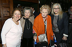 Crystal Fiels, Anne Jackson, Tammy Grimes and Roberta Wallach attends the '12th Annual Love N' Courage' celebrating David Amram and Tammy Grimes at The Players Club on March 2,, 2015 in New York City.