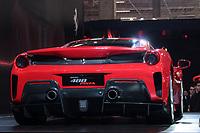SÃO PAULO, 08.11.2018  - SALAO DO AUTOMOVEL  - Ferrari 488 Pista exposta na 30ª edição do Salão do Automóvel nesta quarta-feira (08) no São Paulo Expo, zona sul da capital paulista.<br /> (Foto: Fabricio Bomjardim / Brazil Photo Press)