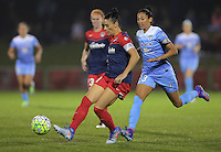Boyds, MD - Friday Sept. 30, 2016: Ali Krieger, Christen Press during a National Women's Soccer League (NWSL) semi-finals match between the Washington Spirit and the Chicago Red Stars at Maureen Hendricks Field, Maryland SoccerPlex. The Washington Spirit won 2-1 in overtime.