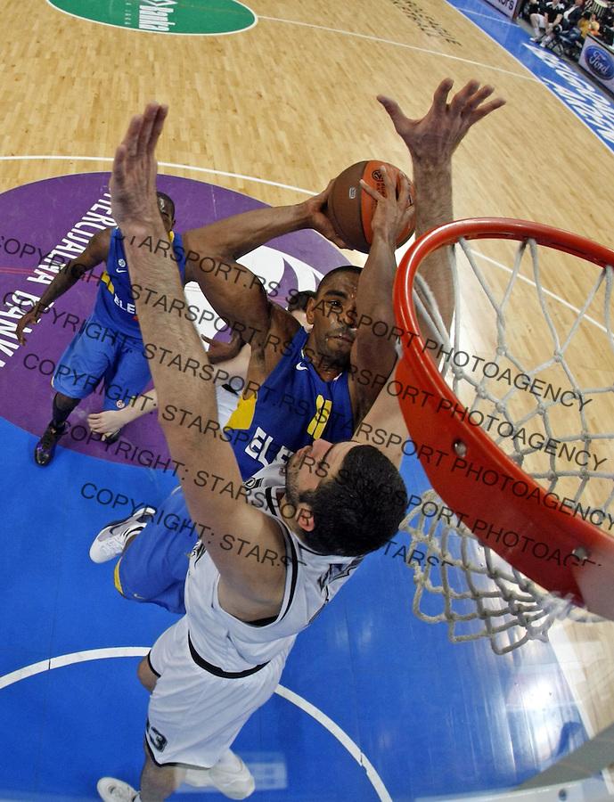 Remote Anderson Alan Sport Basketball Kosarka Partizan Makabi Maccabi Euroleague Evroliga Beogradska Arena Beograd Srbija 30.3.2010. photo: Pedja Milosavljevic / +381 64 1260 959 / thepedja@gmail.com / STARSPORT|