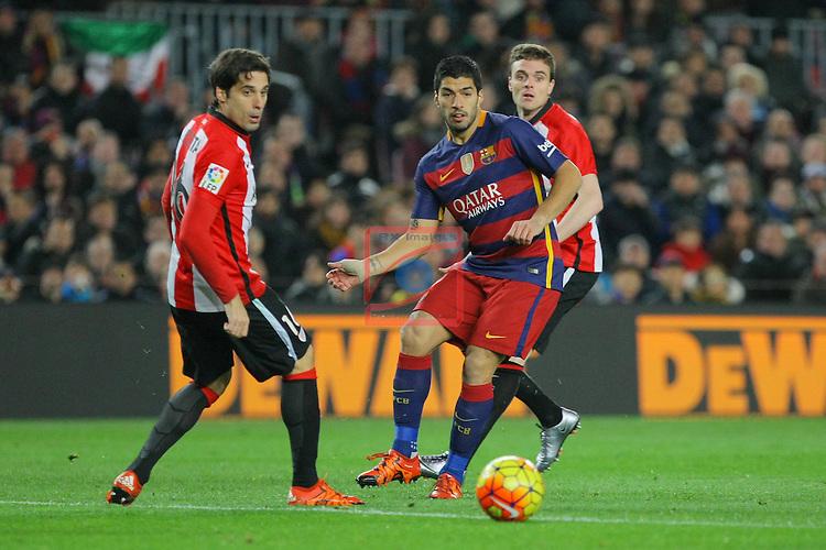 League BBVA 2015/2016 -Game: 20.<br /> FC Barcelona vs Athletic Club: 6-0.<br /> Luis Suarez vs Etxeia.