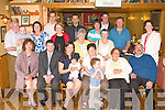 BABY JOY: Proud parents Sean and Julia Browne, Corrovough, Listellick of little Finnian Alexandra who was Christened by Rev Fr Gunn at St Brendan's Church, Tralee and celebrated afterwards with family and friends at Stoker's Lodge restaurant and bar on Thursday seated l-r: Isabel Kuzevski Rimeau, Sean, Julia, Finnian Alexandra and Kay Browne, Mary Kavanagh and Jim Kavanagh. Back l-r: John Browne, Cillian Murphy, Aisling Murphy, Justin Wheeler, Sarah Jane O'Brien, Steven Kuzevski, Mary Slattery, Ricky Moloney, Michael O'Brien, Bridie Lyne, Donie O'Connell Sinead Lewis.