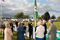 Lord Lieutenant of Nottinghamshire Sir Andrew Buchanan raises the flag to start the show