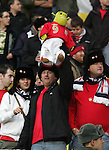 England's fans with a Shrek doll in the Luznikhi Stadium, Moscow<br /> <br /> Euro 2008 Qualifier<br /> Russia v England<br /> 17th October 2007<br /> --------------------<br /> Sportimage +44 7980659747<br /> admin@sportimage.co.uk<br /> http://www.sportimage.co.uk/