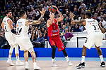 Real Madrid Rudy Fernandez, Gabriel Deck and Trey Thompkins and CSKA Moscow Nando de  Colo during Turkish Airlines Euroleague match between Real Madrid and CSKA Moscow at Wizink Center in Madrid, Spain. November 29, 2018. (ALTERPHOTOS/Borja B.Hojas)