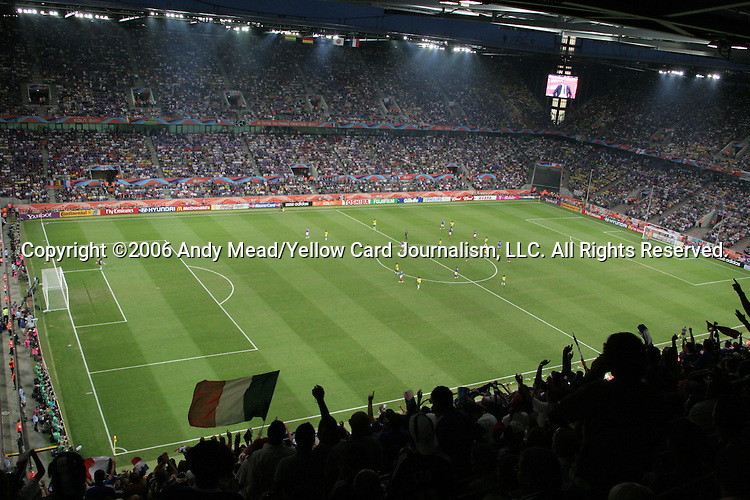 23 June 2006: A wide shot of the stadium after France's first goal. Togo played France at the RheinEnergie Stadion in Cologne, Germany in match 45, a Group G first round game, of the 2006 FIFA World Cup.
