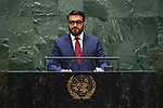 General Assembly Seventy-fourth session<br /> <br /> <br /> <br /> His Excellency Hamdullah MOHIBChair of Delegation of Afghanistan
