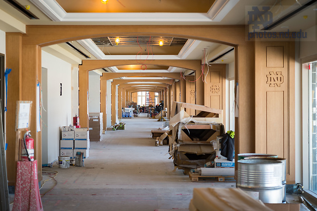 March 8, 2017; Corbett Family Hall 7th floor under construction (Photo by Matt Cashore/University of Notre Dame)