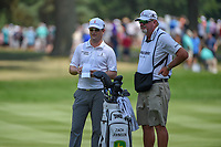 Zach Johnson (USA) looks over the yardage before his approach shot on 2 during 4th round of the World Golf Championships - Bridgestone Invitational, at the Firestone Country Club, Akron, Ohio. 8/5/2018.<br /> Picture: Golffile | Ken Murray<br /> <br /> <br /> All photo usage must carry mandatory copyright credit (© Golffile | Ken Murray)