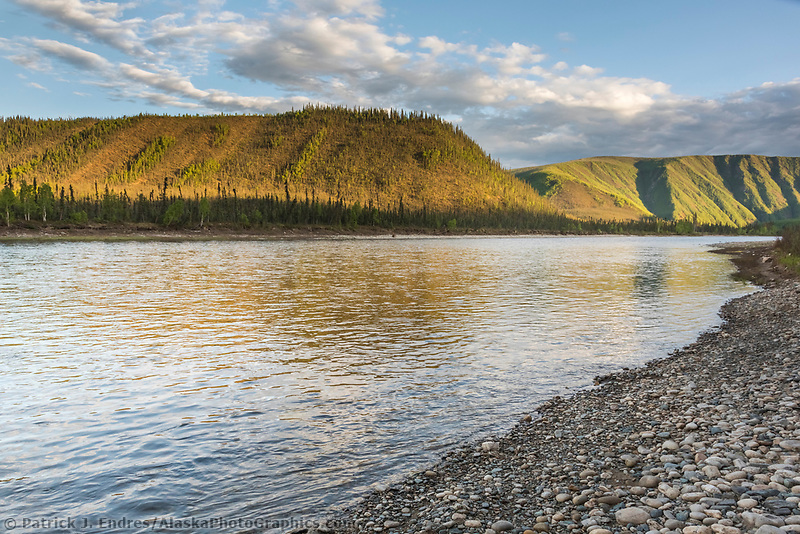Shore of the Charley River in the Yukon Charley Rivers National Preserve.