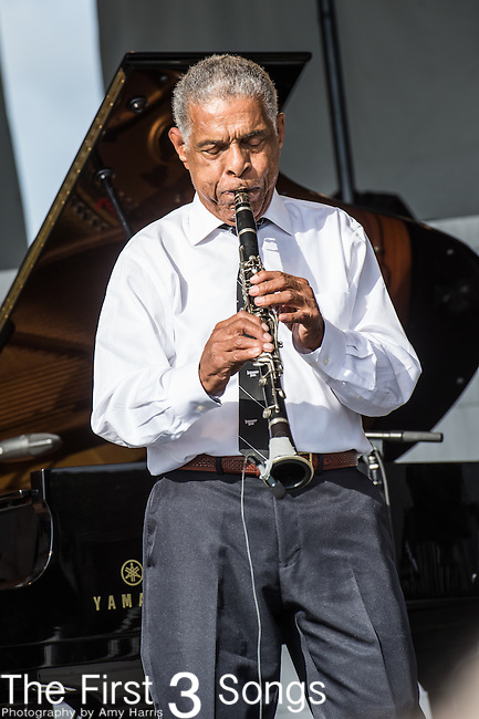 Charlie Gabriel of The Preservation Hall Jazz Band at the 2015 Pilgrimage Music & Cultural Festival in Franklin, Tennessee.