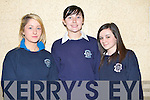 LEAVING CERT: Students of Moyderwell Presentation Secondary School slightly nervous before start of the 2008 Leaving Certificate on Wednesday morning l-r: Shandon Sugrue, Tara Guerin and Aoife Staunton.   Copyright Kerry's Eye 2008