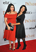 www.acepixs.com<br /> <br /> April 12 2017, LA<br /> <br /> Tara Touzie (L) and Shohreh Aghdashloo arriving at the premiere of 'The Promise' on April 12, 2017 in Hollywood, California<br /> <br /> By Line: Peter West/ACE Pictures<br /> <br /> <br /> ACE Pictures Inc<br /> Tel: 6467670430<br /> Email: info@acepixs.com<br /> www.acepixs.com