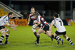 Grant Henson has Dave Duley in support as he heads for Will Crutchley. Air New Zealand Cup rugby game between Counties Manukau Steelers & Hawkes Bay, played at Mt Smart Stadium on the 23rd of August 2007. Hawkes Bay won 38 - 14.