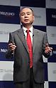 Japan's telecommunication giant Softbank president Masayoshi Son speaks at a press conference in Tokyo on Thursday, September 15, 2016. Son and Japan's mega bank Mizuho Financial Group president Yasuhiro Sato announced to form a FinTech based joint venture lending service.   (Photo by Yoshio Tsunoda/AFLO) LWX -ytd-
