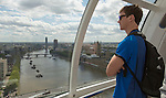 Sam Dickson. London Eye. 13 May 2015. England. Photo: Marc Weakley