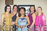 Dorina Iacov, Fanny Binder, Linda Flanagan, Natalie Russell and Ma?lopzata Magieviska enjoying the Salsa ball in the Brehon Hotel Killarney on Saturday night